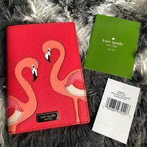 Kate Spade Pink Flamingo Passport Imogene Wild